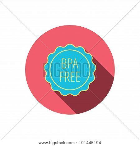 BPA free icon. Bisphenol plastic sign.