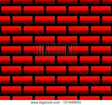 Red Brick Seamless Pattern, Background. Vector Graphics.