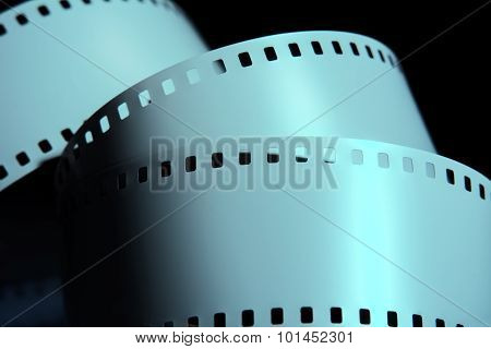 Strips Of Negative Film Strip On A Dark Background