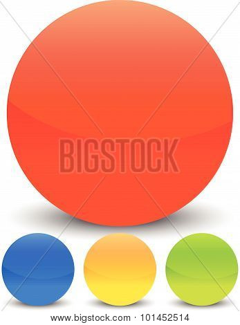 Glossy Circles With Blank Space. Vector Illustration.