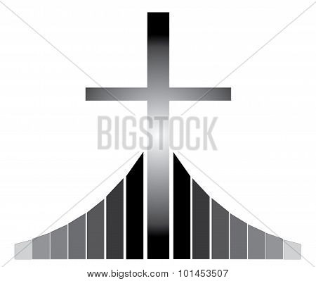 Christian Cross At The Golgotha
