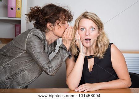 One Girl Whispers Bad News To Another Girl - Shocking Secrets