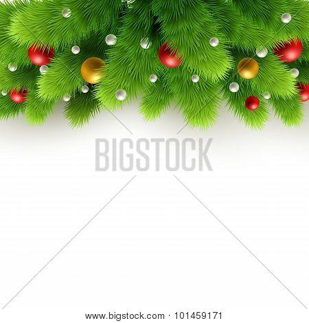 Christmas background Vector illustration.
