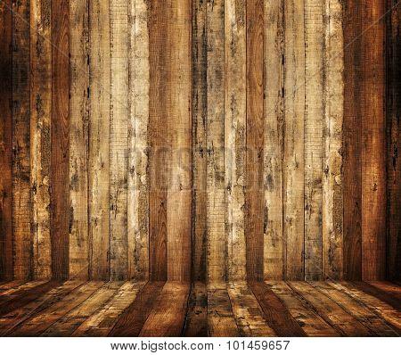 interior of wood plank