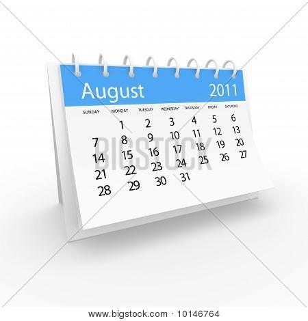 Calendar 2001 august