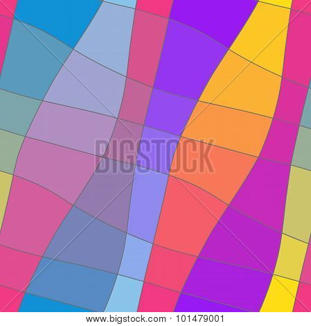 Seamless abstract geometric colourful ornament
