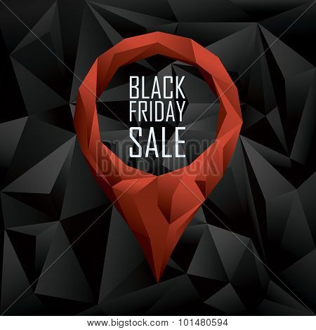 Black friday sale banner. Seasonal clearance promotion. Special offers and discounts poster. Eps10 vector illustration. poster