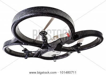 Surveillance Drone Over White
