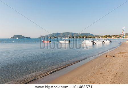 View Of Laganas Bay On Zakynthos Island