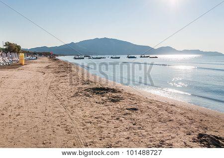 Laganas Beach On Zakynthos Island