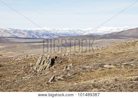 Central Idaho Mountains Winter