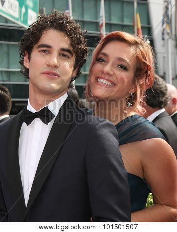 LOS ANGELES - SEP 12:  Darrin Criss at the Primetime Creative Emmy Awards Arrivals at the Microsoft Theater on September 12, 2015 in Los Angeles, CA
