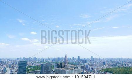 Japan Tokyo residential and office  buildings
