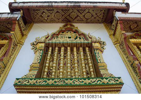 This Image Shows A Wat Detail, Window, In Haw Pha Bang (luang Prabang, Laos)