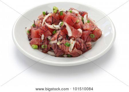 ahi poke, hawaiian raw tuna salad poster