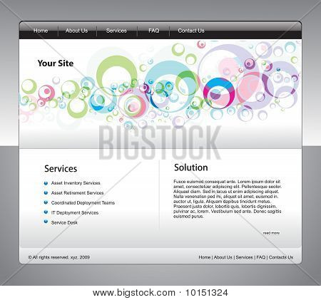 abstract business web site design template