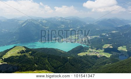 Lake And Mountains - Summer Landscape