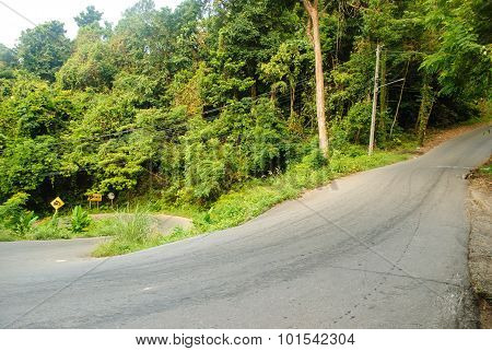 A steep road
