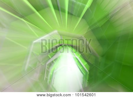 Hallucination Of A Spiral Staircase With Green Carpet