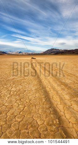 Racetrack Playa Dry Lake in Death Valley, California