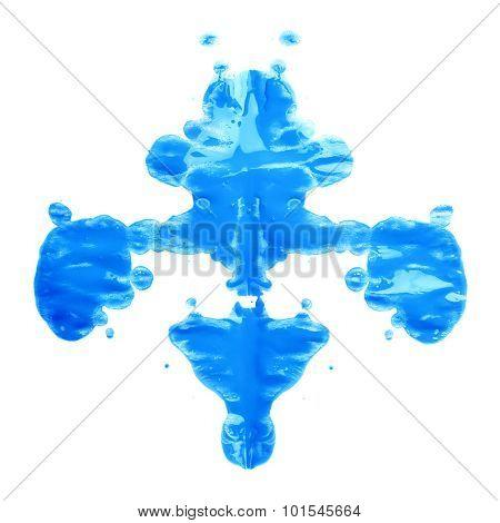 Symmetric paint blot