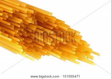 Italian Uncooked Spaghetti Pasta.