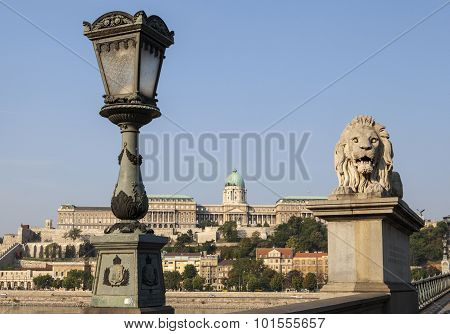 View Of Buda Castle From The Chain Bridge