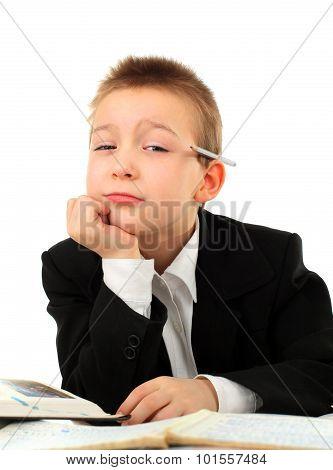Schoolboy Bored