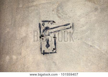 Door Handle Graffiti
