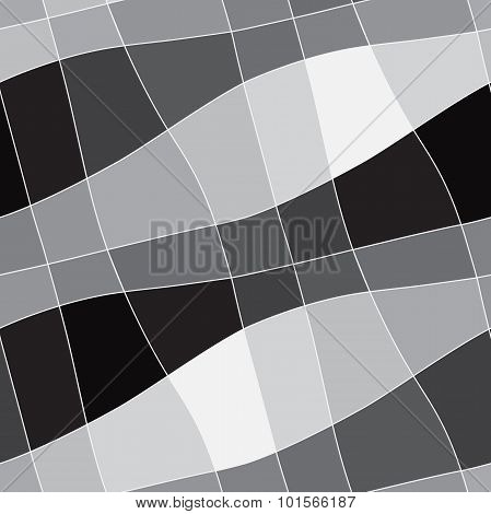 Seamless abstract geometric white to black gradient ornament