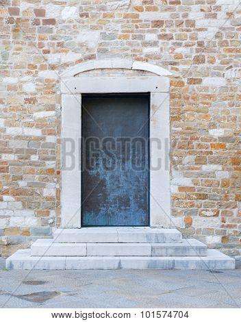 Wooden door in house