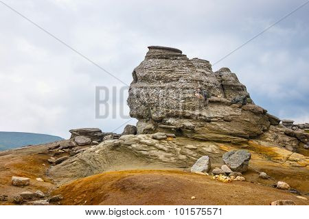The Sphinx - Geomorphologic Rocky Structures In Bucegi Mountains, Romania