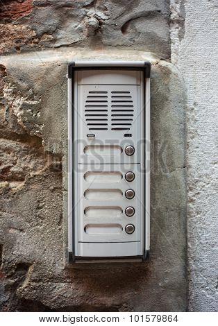 Doorphone, close up view