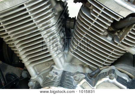 v-twin engine for easy rider motorcycle or bikes. poster