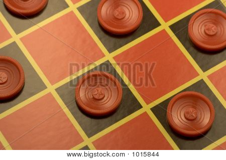 Checkerboard Ready For A Game