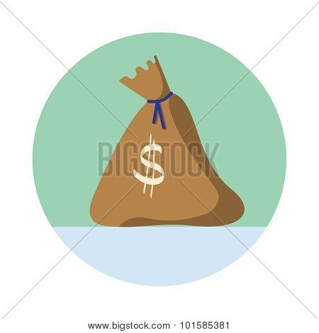 Drawn moneybag