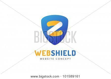 Abstract Z letter vector logo icon template. Power z vector, z letter logo, web studio, design studio, round shape, z logo icon, company z shield logo. Z monogram.