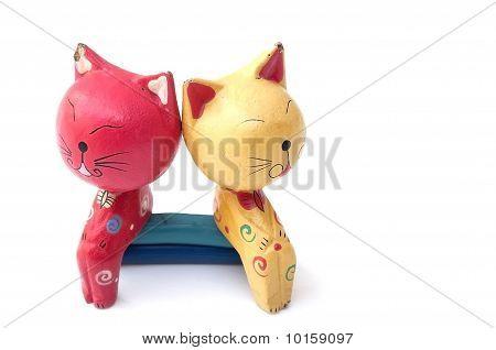 Hanycraft Wooden Cat Toy