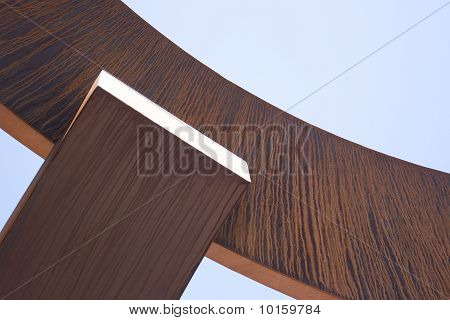 Rusty metal reddish structure, with rounded form poster