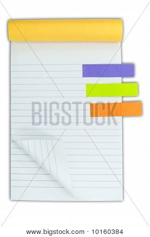 Blank Notebook And Post It