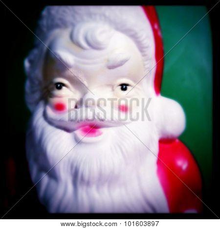 Vintage plastic Santa Clause decoration - Instagram filtered