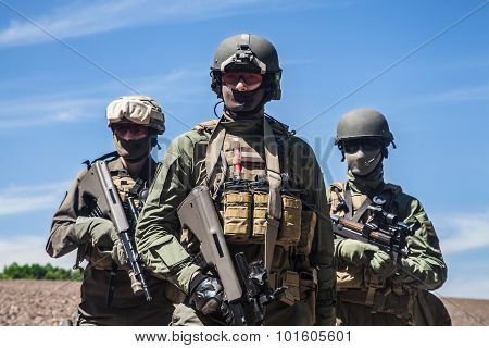 Group of jagdkommando soldiers Austrian special forces poster