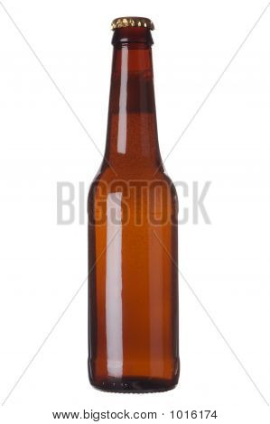 Brown Bottle With Liquid