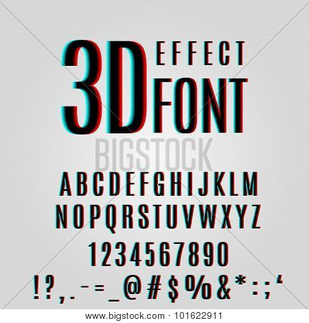 Font Stereoscopic 3D Effect