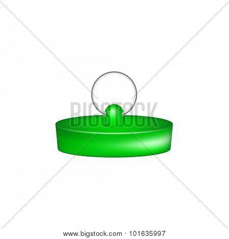 Rubber plug in green design