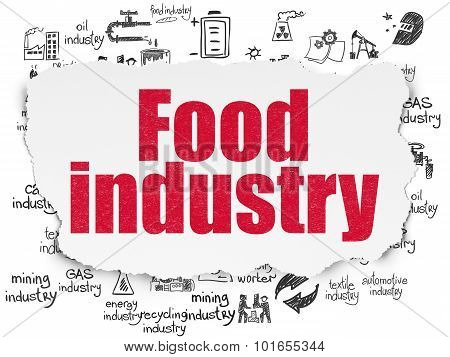 Industry concept: Food Industry on Torn Paper background