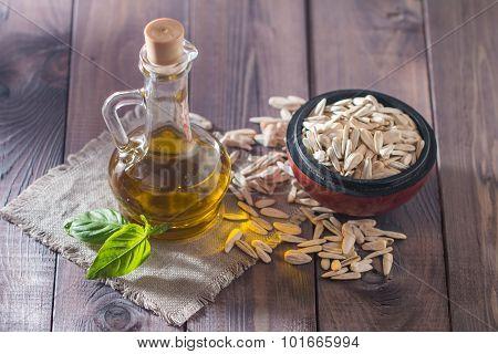 Sunflower Oil And White Sunflower Seeds