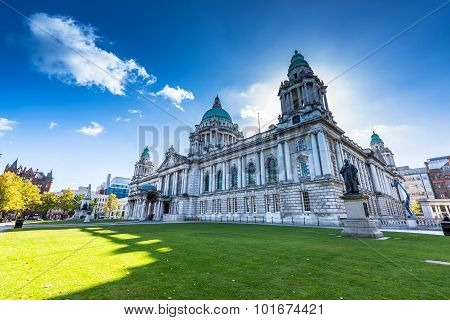 The city hall of Belfast North Ireland