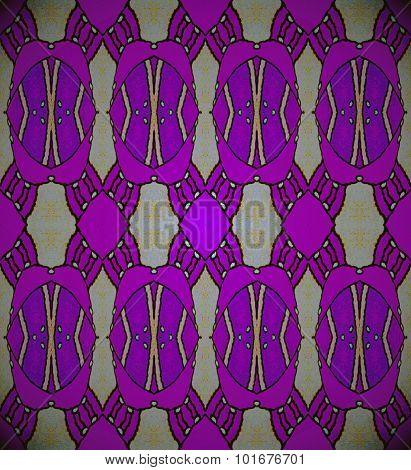 Seamless ellipses pattern purple gray