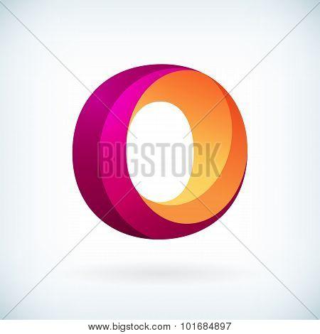 Modern Twisted Letter O